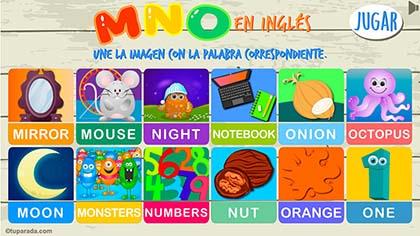 Juego MNO en inglés