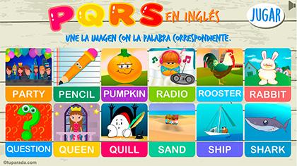 Juego PQRS en inglés