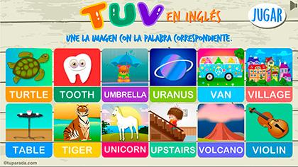 Juego TUV en inglés