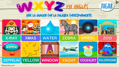 Juego WXYZ en inglés