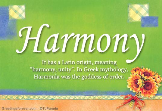 Harmony Name Meaning - Harmony name Origin, Name Harmony ...