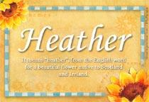 Name Heather