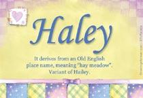 Name Haley