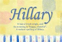 Name Hillary