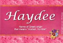 Name Haydee