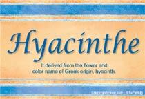 Name Hyacinthe