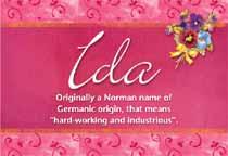 Name Ida