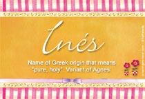 Name Ines
