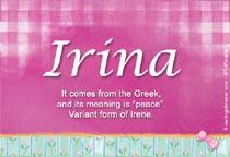 Name Irina