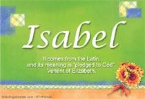 Name Isabel