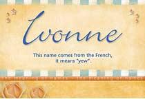 Name Ivonne