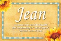 Name Jean