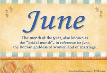 Meaning Of June