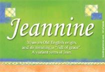 Name Jeannine