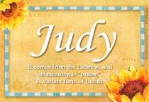 Name Judy