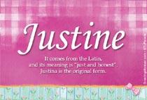 Name Justine
