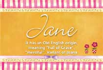 Name Jane
