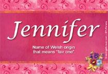 Name Jennifer
