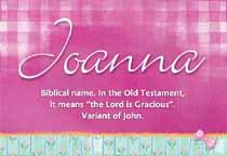 Name Joanna