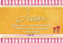 Name Joan