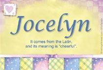 Name Jocelyn