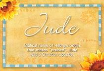 Name Jude