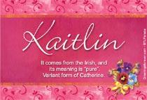Name Kaitlin