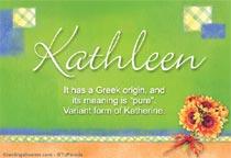 Name Kathleen
