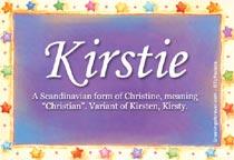 Name Kirstie