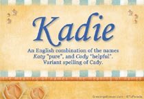 Name Kadie