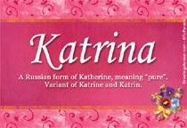 Name Katrina