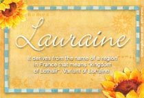 Name Lauraine