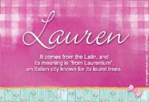 Name Lauren