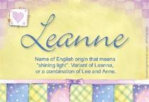 Name Leanne