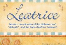 Name Leatrice