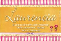 Name Laurencia