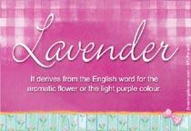 Name Lavender