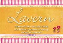 Lavern Name Meaning - Lavern name Origin, Name Lavern