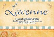 Name Lavonne