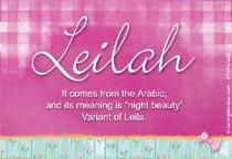 Name Leilah