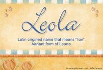 Name Leola