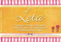 Name Leta