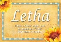 Name Letha