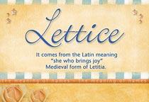 Name Lettice