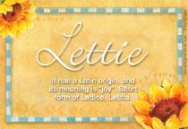 Name Lettie