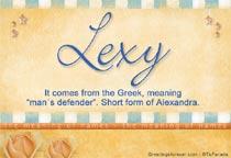 Name Lexy