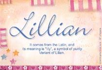 Name Lillian