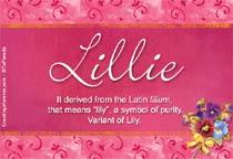 Name Lillie