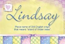 Name Lindsay