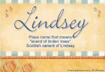 Name Lindsey